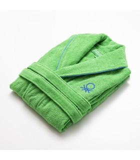 Casa Benetton Albornoz talla L/XL 100% Algodón, suavidad y durabilidad excelente. Albornoz Verde Rainbow